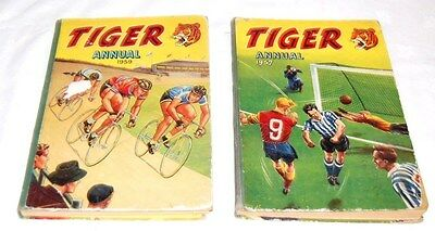Vintage 2 x Tiger annuals 1959, 1957 BFC/A3