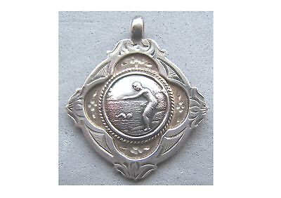 Swimming Medal - Hallmarked Sterling Silver, Not Engraved
