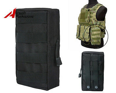 Hunting Molle Belt Magazine Drop Pouch Tactical First Aid Bag Paintball Black