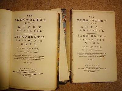 xenophon anabasis expeditio cyri res gestae agesilaus foulis greek only 1762