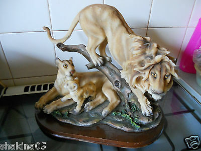 Lion , Mum and Baby Ornament