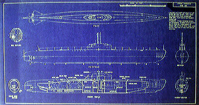 WW2 German UBoat Type XXl 1944 Blueprint Plan 11x21 (104)