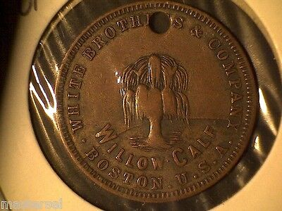 1890's White Brothers And Company , Boston Token ( Willow Tree )