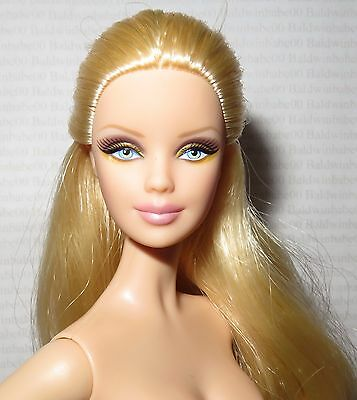 (B) Nude Barbie (B)~ Mattel Blonde Basics Model 01 Muse 001 Mackie Doll For Ooak