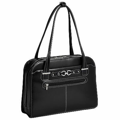 McKlein USA Women's Mayfair Leather 15.4-inch Laptop Briefcase Tote Bag
