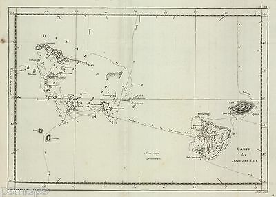 1785   Cook's 3rd Voyage  Map  of the Friendly Islands-original, BW, engraved