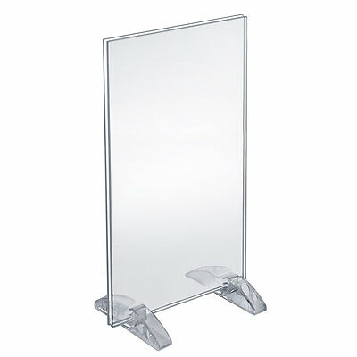 Azar 132706 8.5  x 14-inch Dual-Stand Acrylic Sign Holder, 10Pack