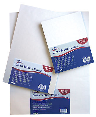 "Alvin 1420-9 Cross Section Paper 8X8 Grid 100-Sheet Pack 11"" X 17"""