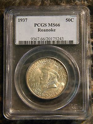 1937 Roanoke Half Dollar PCGS MS-66 Certified Commemorative 50C Silver Coins