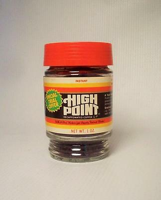 Vintage Folgers High Point Coffee Special Trial Offer 1oz Glass Jar Has Seal