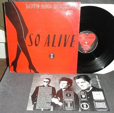 LOVE AND ROCKETS So Alive 12 INCH '89 + INSERT Beggars Banquet ‎BEG 229T Bauhaus