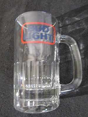 BUD LIGHT Beer Mug Clear Silver Glass  Cup~~~~~~~~~~#5