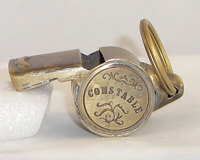 Solid Brass Working Constable  Whistle