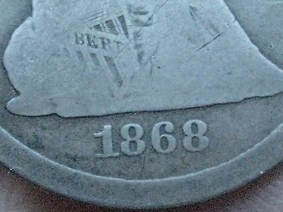 1868 S Seated Liberty Quarter- Rare Low Mintage Coin