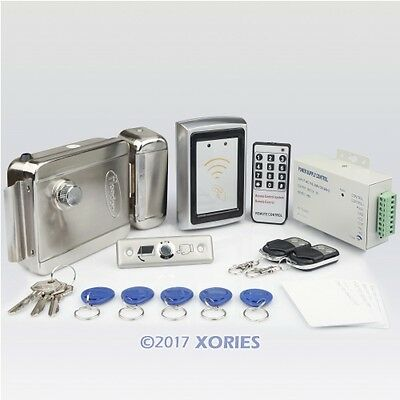 New RFID Password Door Access Control System Kit +Electric Lock+2Remote Controls