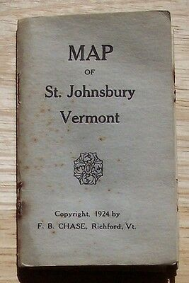Map of St Johnsbury Vermont F B Chase Richford 1924 in paper covers