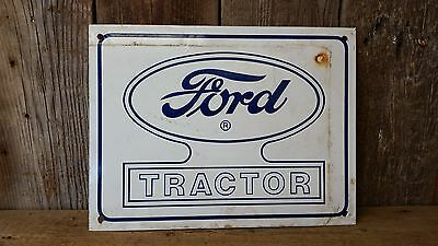 Porcelain Ford Tractor Advertising Sign ~ Primitive Rustic Farmhouse Barn Decor