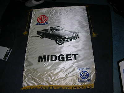 1970's British Leyland Car Dealership Showroom Rayon Banner MIDGET  30x44""