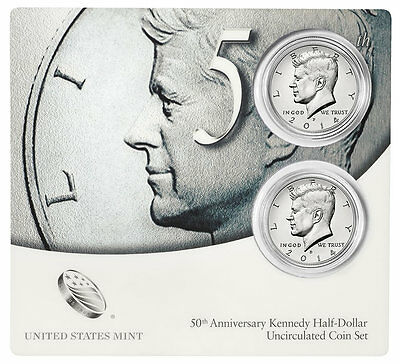 2014 50th Anniversary Kennedy Half Dollars Uncirculated SEALED Coin Set * K14 *