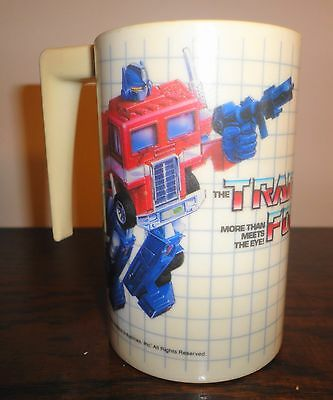Vintage Transformers Hard Plastic Cup  -  Hasbro  1984 - Nice Collectable