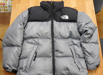 The North Face 600 Down Jacket Kids Silver Black Yoke Medium Med Boys Puffer d7bd76f58