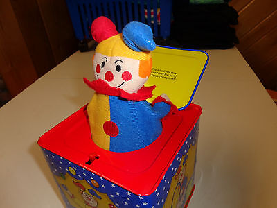 Schylling  Clown Jack In The Box  Metal Box  Cloth Clown  Euc    Toddler Toy
