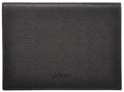 Brioni Passport Case Leather 5 1/2 x 4 Brown 03WA0117 $500