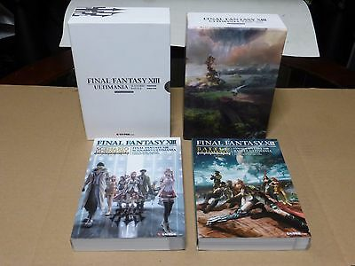 Final Fantasy XIII Limited Edition Box Japan Ultimania & Scenario Battle 2 Books