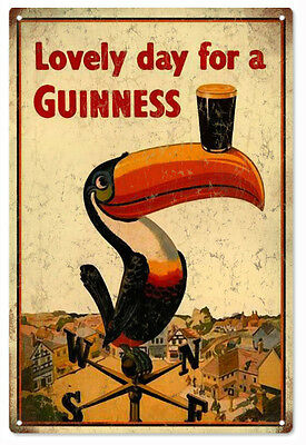 Lovely Day For A Guinness Beer Advertisement Bar Reproduction Metal Sign