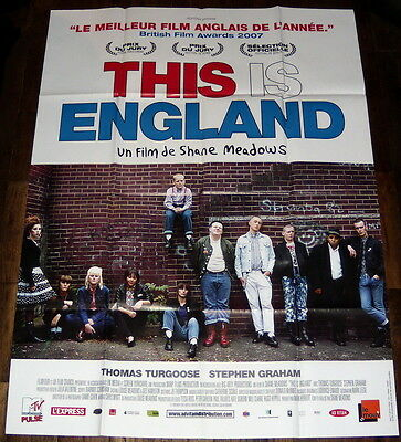 THiS iS ENGLAND Shane Meadows skinheads 1980s Dr Martens LARGE French POSTER