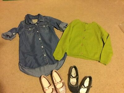 New Next Pretty  Girls Bundle Age 5 Cardigans  and Party Shoes size 8/9