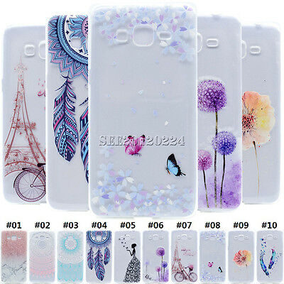 Cute Transparent Soft TPU Crystal Silicone Case Cover For Samsung Galaxy Phone