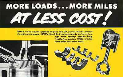 Advertising Postcard GMC - More Loads & Miles at Less Cost - ca 1940s
