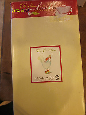 Boxed Patience Brewster Dept 56 Christmas 3 French Hens single chicken
