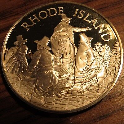 1975 Rhode Island Franklin Mint Sterling Silver Round - RI 24.3 grams