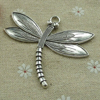 Free Ship 32 pieces tibetan silver dragonfly pendant 67x59mm #816