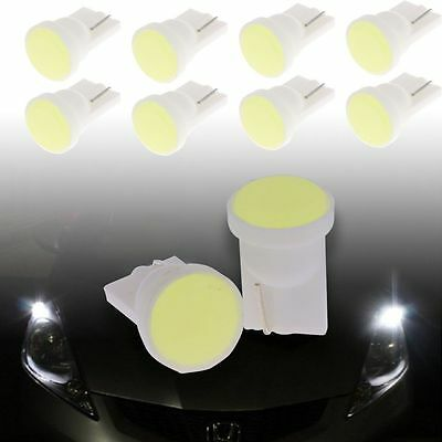 10x 12V Car Super Bright White T10 W5W 1 LED COB SMD Wedge Side Light Bulb Lamp