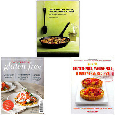 Gluten and Dairy Free 3 Books Collection Set (Gorgeous Food,Learn to Cook Wheat)