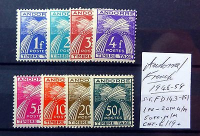 ANDORRA 1946 Postage Dues As Described Mounted Mint FP9394