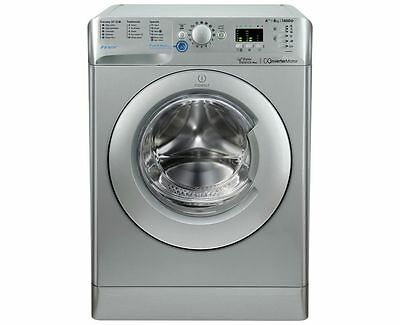 Indesit BWA81283X 8KG 1200 Spin Washing Machine - Silver