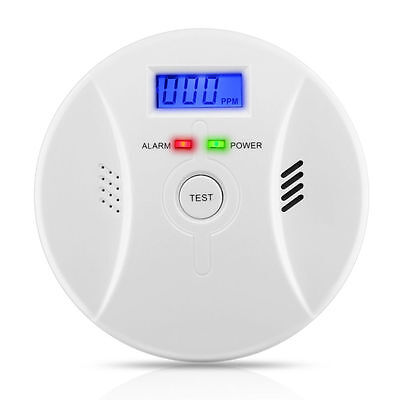 CO Carbon Monoxide Detector Smoke Fire Alarm Sound Combo Sensor Battery Operated