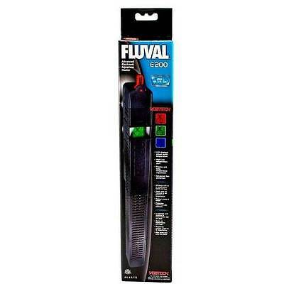 Fluval E200 Advanced Electronic Aquarium Heater 200 Watt Heat Water Fish Tank