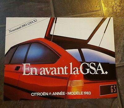 citroen fold out booklet in french
