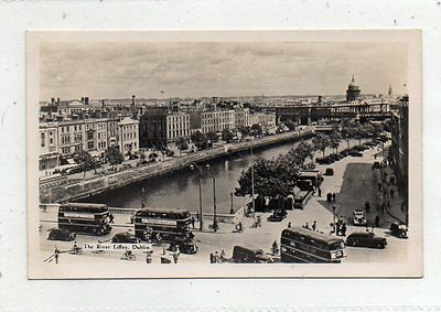 """""postcard The River Liffey,dublin,ireland"""""