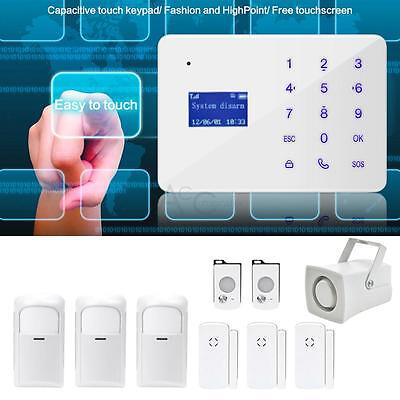 Wireless Sensor Alarm Detector GSM Home Security Burglar Intruder System Siren