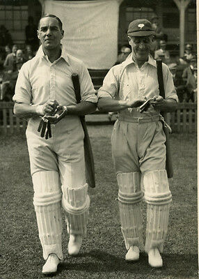 Percy Holmes and Herbert Sutcliffe opening up 1928  CENTRAL PRESS ORIGINAL PHOTO