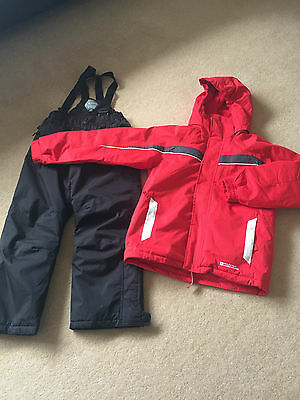 Boys Girls Ski Suit Ski Jacket & Ski Trousers Age 8-9 Excellent Condition