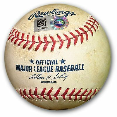 Clayton Kershaw Game Used Baseball 7/10/14 Dodgers Pitch to Grandal HZ162015