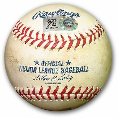 Matt Kemp Game Used Baseball 8/19/14 - Dodgers Hit Double vs. Padres HZ350244