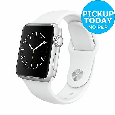 Apple Watch Sport 8GB 38mm Silver Aluminium Case & White Band:From Argos on ebay